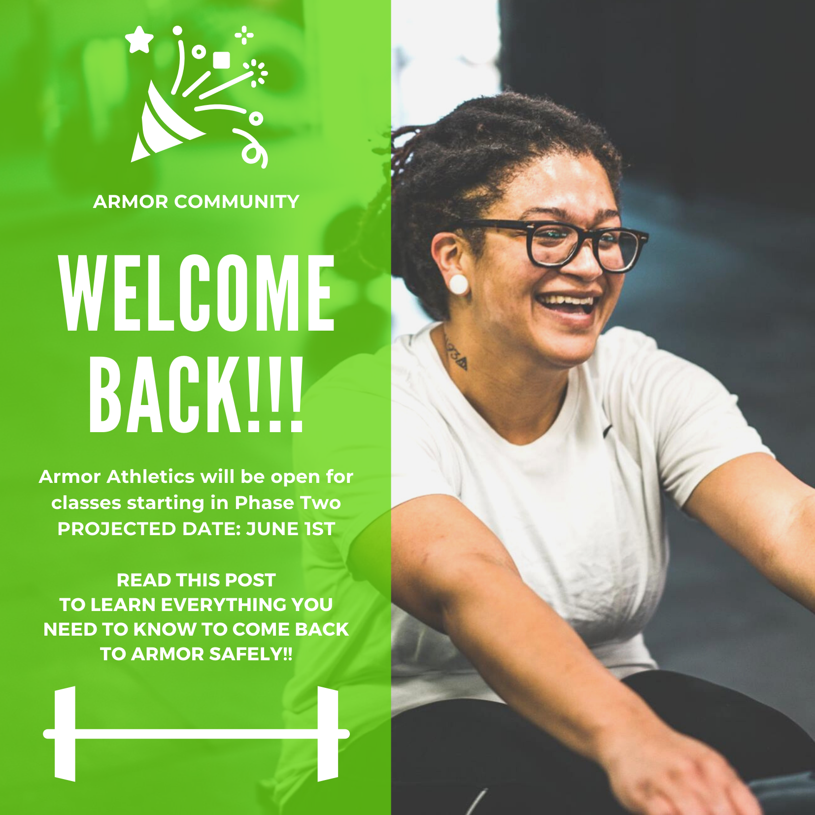 welcome back, covid, closure, gym, tacoma, armor athletics, rowing