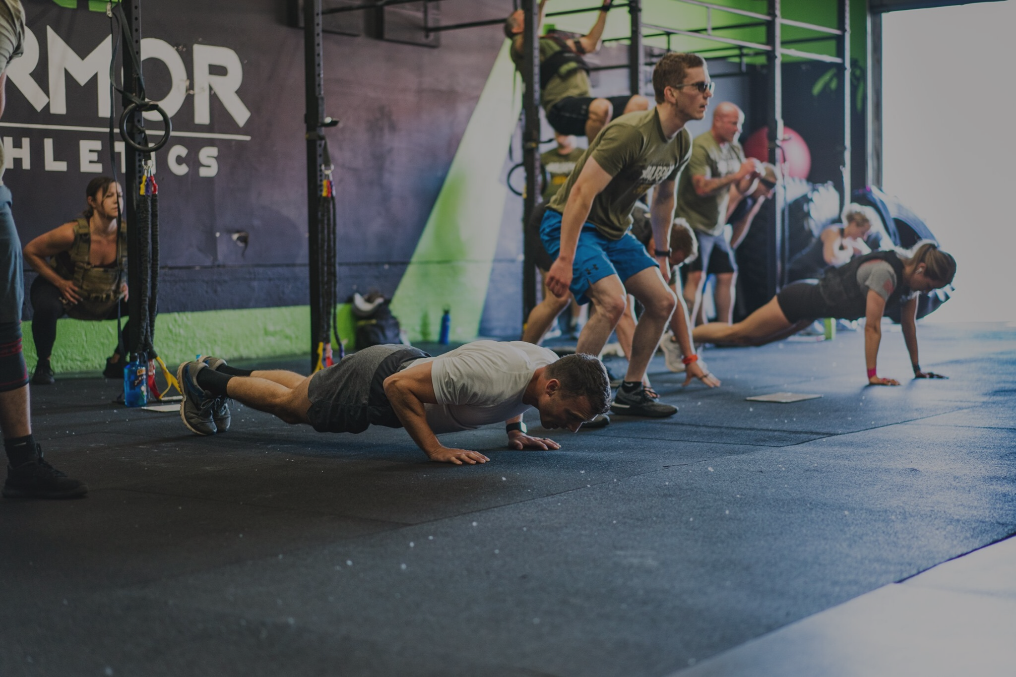 crossfit, class, training, workout, fitness, health, coaching, gym, tacoma, push-up, murph