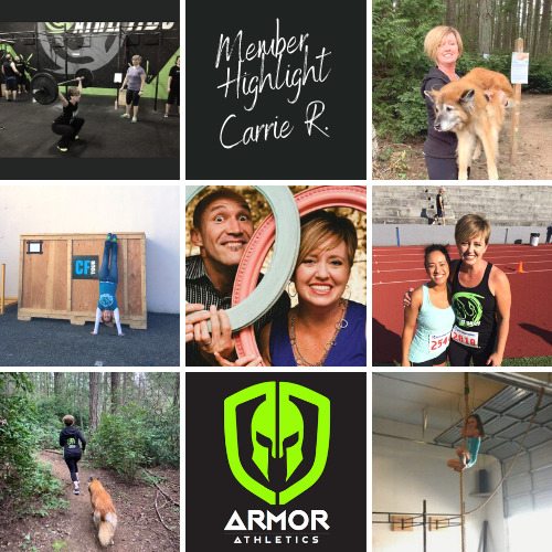 member highlight, fitness, consistency, newsletter, armor athletics